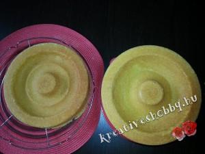 Emeletes Minnie egér-torta: a szív-töltelékhez szükséges tészták