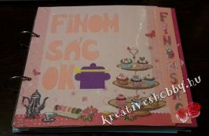 Kapcsos, színskálás receptes könyv: az elválasztó oldal