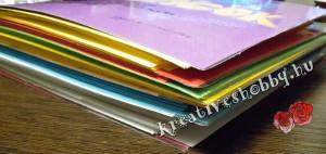 Kapcsos, színskálás receptes könyv: a belső oldalak