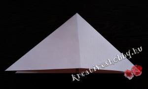 Papírlepke-füzér: felülnézet