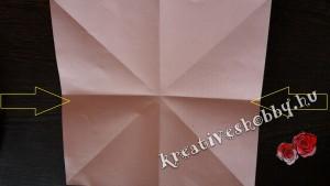 Papírlepke-füzér: lepkehajtogatás
