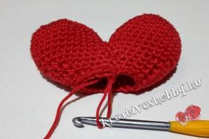 Amigurumi szív horgolása