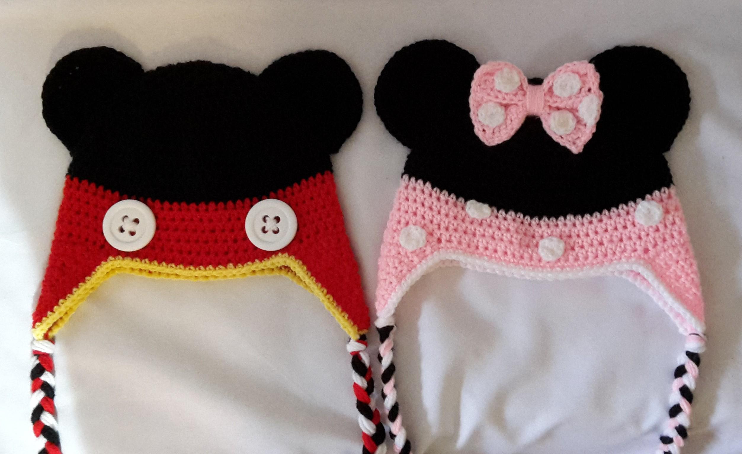 42ddec4326 Horgolt Mickey- és Minnie egér-sapka - Kreatív+Hobby Alkotóműhely