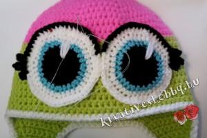 A horgolt bagolysapka szeme
