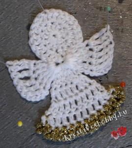Horgolt angyalka