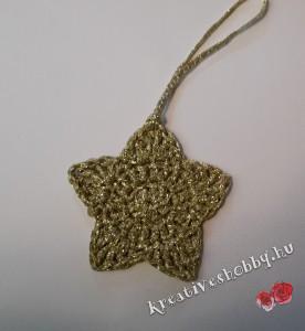 Horgolt karácsonyi csillag