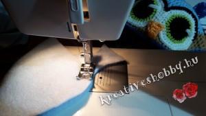 Horgolt sapka bélelése: a bélés összevarrása