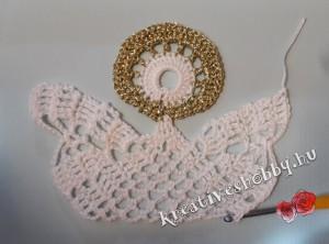 Nagy horgolt angyal: a test és a szárnyak