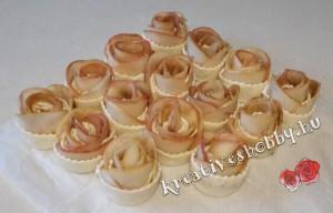 Rózsás pite: fahéjas almarózsák