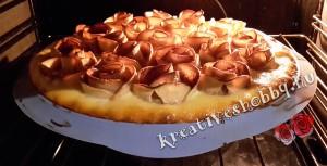 Rózsás pite: megsütjük