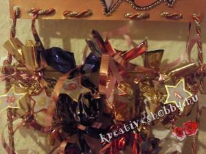 Üvegmatricás adventi naptár: szaloncukrok