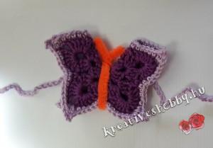 Horgolt pillangó függönyelkötő
