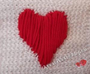 Szíves tuniszi sál: a szív hátoldala