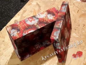 Stílusos csomagolás cipős dobozból: száradás