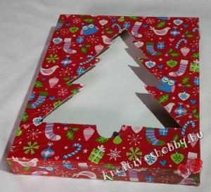 Stílusos karácsonyi csomagolás: fenyőfás díszdoboz