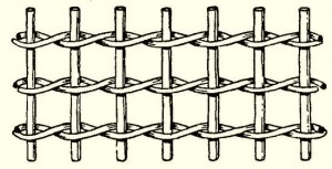 Kosárfonás peddignádból: elől-hátul fonás két szállal