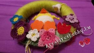 Húsvéti ajtódísz: a díszek elhelyezése