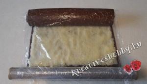 Fekete-fehér keksztekercs: feltekerjük