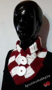 Bordó-fehér tuniszi kockás sál