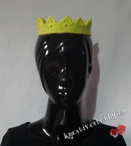 Horgolt korona