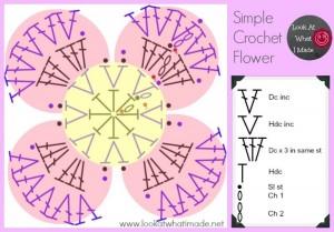 Négyszirmú virág mintadiagram