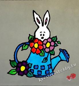 Húsvéti nyuszi üvegmatrica