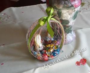 Cérna-tojás: csokitojásokat kínálunk benne