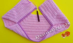 Horgolt kabátka: az ujj-nyílás kialakítása