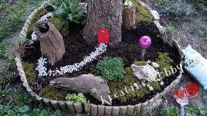 Kültéri tündérkert: a kert berendezése karakterisztikus tárgyakkal