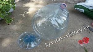 Függőleges konyhakert: levágjuk a műanyag palackok alját