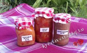 Kreatív befőzés: főzési alapanyagok (hagyma, lecsó, pörköltalap)