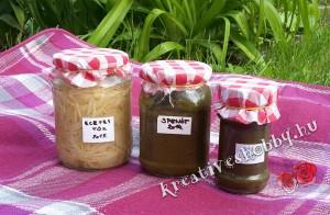 Kreatív befőzés: főzési alapanyagok (sóska, spenót, tök)