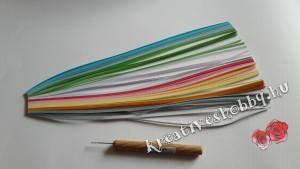 Kvilling-technika: kvillingtű és kvillingpapír