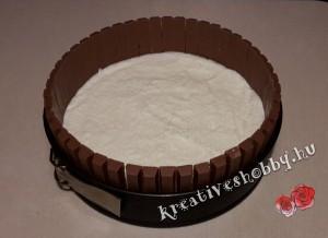 Fagyi torta: az első fagyiréteg