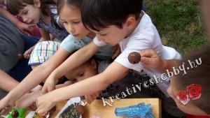 Sütinyalóka csokiszökőkút mellé