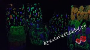 Világító befőttesüvegek