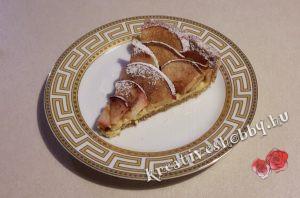 Teljeskiőrlésű almás pite