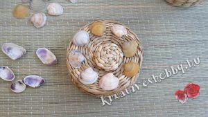 Kagylós kosárkák: sormintákat próbálgatunk