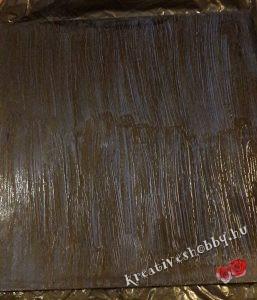 Antikolás: folyékony bitumenes patina