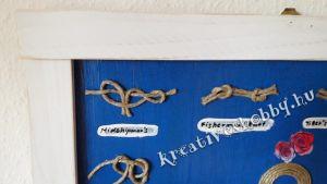 Matrózcsomós-tengeri hangulatú kép: antikolt részletek