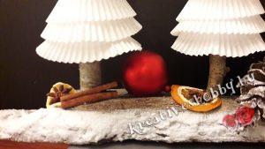 Muffin-papír fenyők: az alapzat díszítése