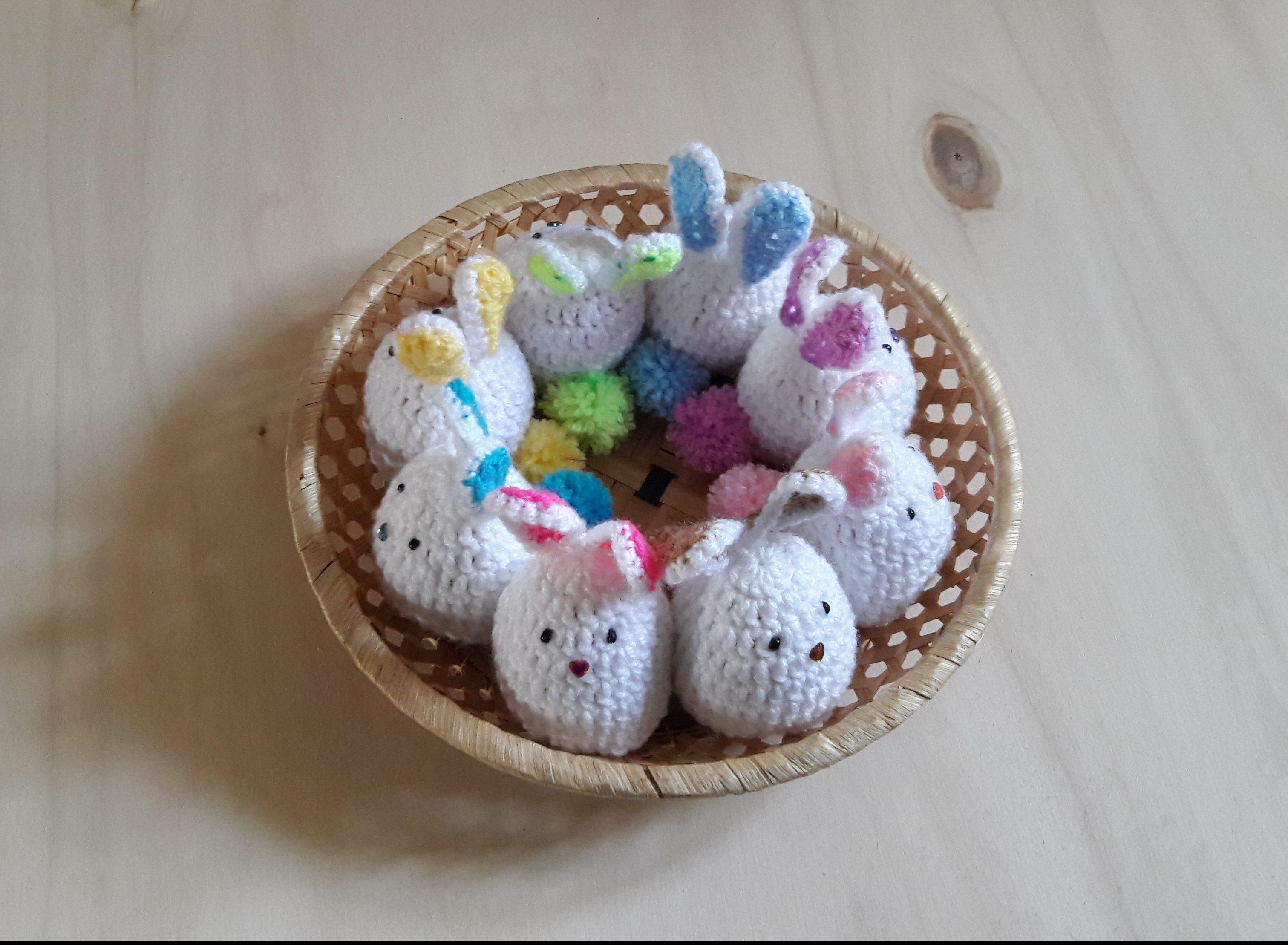 Horgolt nyuszis tojástakaró - Kreatív+Hobby Alkotóműhely 53eca6cffd