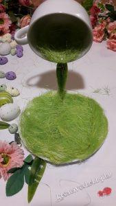 lebegő teáscsésze húsvéti dekor