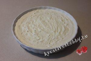 Áfonyás sajttorta sütés nélkül: a krém