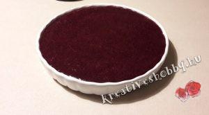 Áfonyás sajttorta sütés nélkül: az áfonya szósz