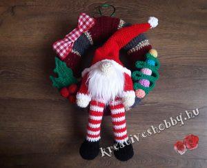 Horgolt karácsonyi gnóm