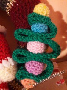 Karácsonyi gnómos kopogtató: a karácsonyfa