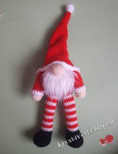 Karácsonyi gnómos kopogtató: a gnóm