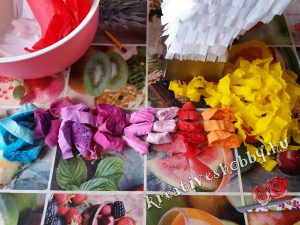 Unikornis-piñata: a sörénye